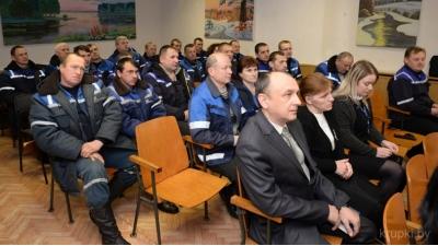 Коллектив узла электросвязи во время Единого дня информирования