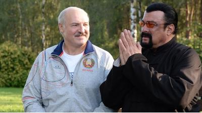 Александр Лукашенко встретился со Стивеном Сигалом в своей резиденции
