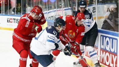 Сборная Беларуси проиграла Финляндии на старте чемпионата мира по хоккею